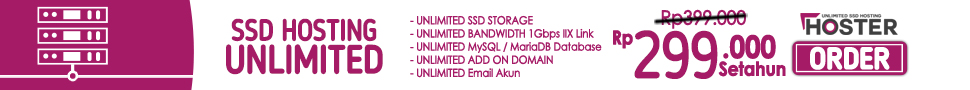 Unlimited SSD Web Hosting Server Indonesia
